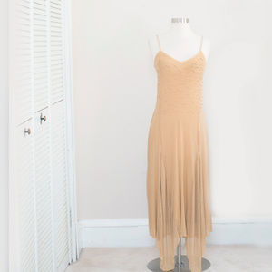 Pamplona Spaghetti Strap Beaded Gown S